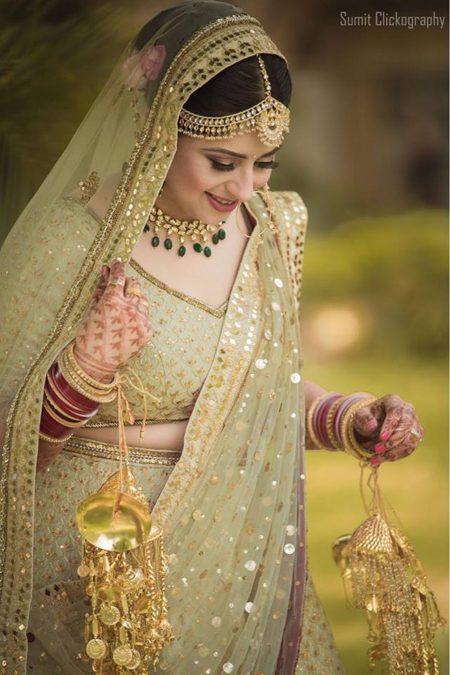 Pista Green Bridal Lehenga