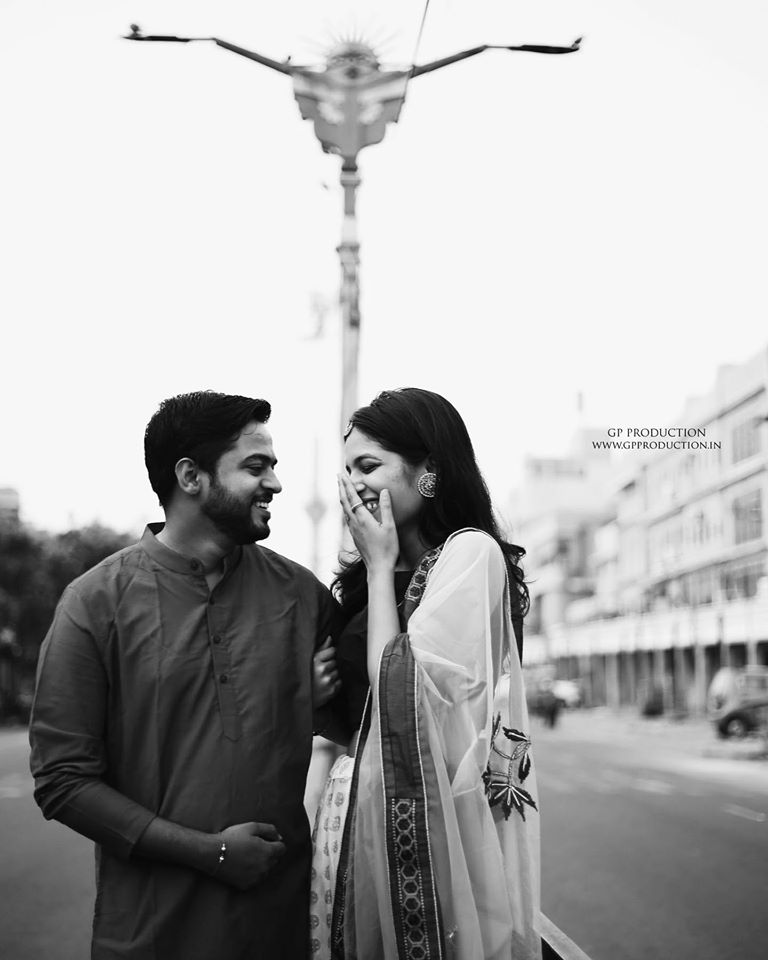 Laughing Couple Pre Wedding Picture