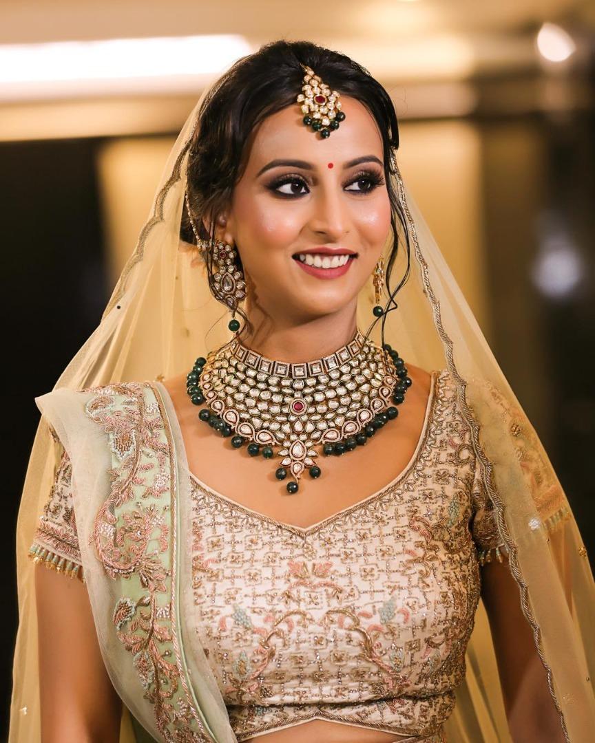 Beautiful bridal makeup and style