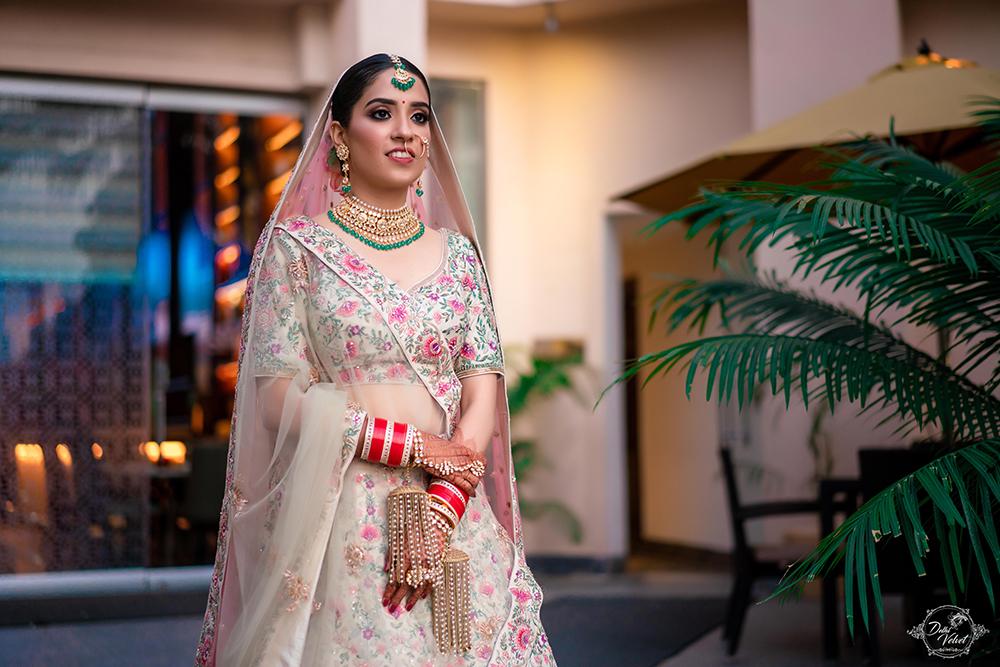 Beautiful bride in Gorgeous Lehenga and Glowing Makeup