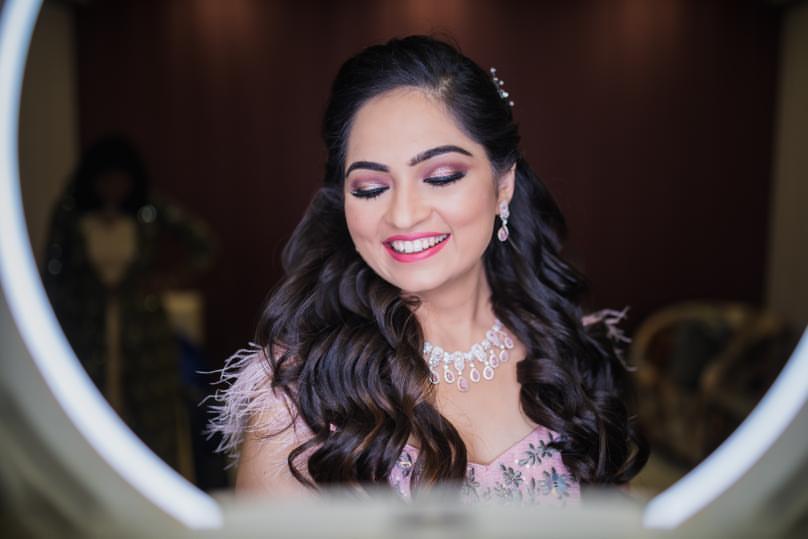 natural pink bridal makeup