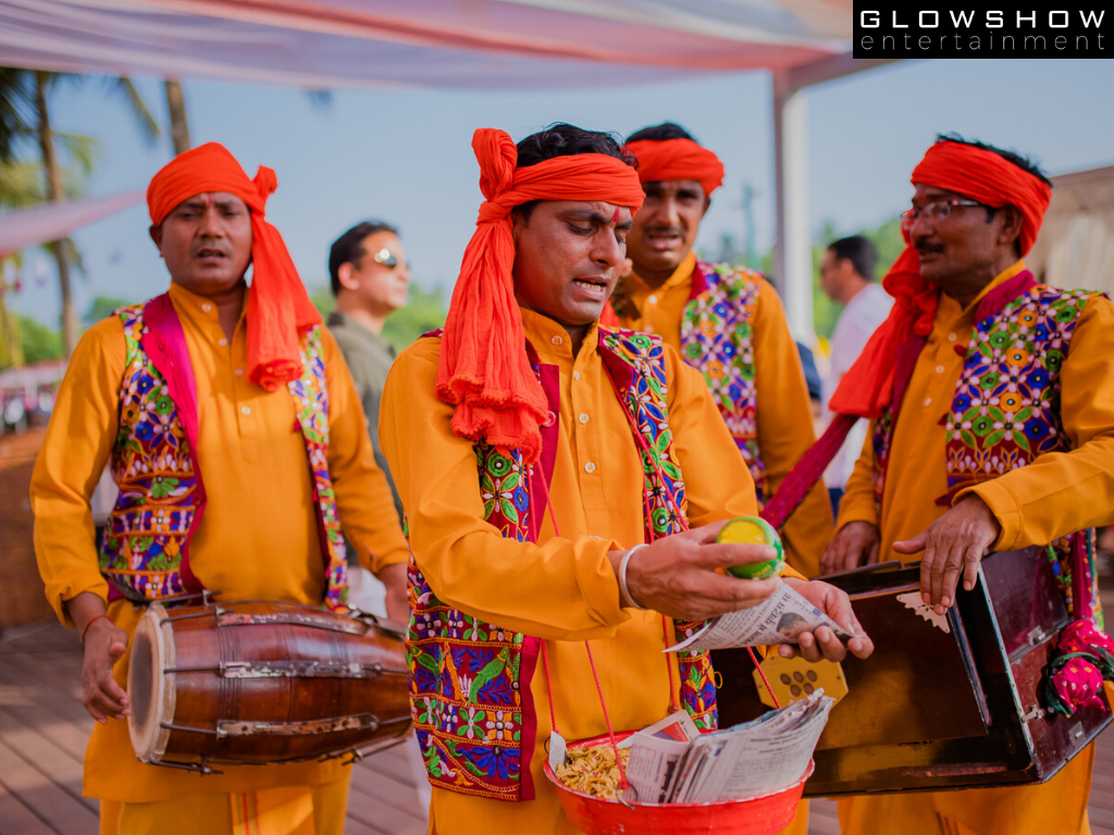 folk singers performing in traditional outfits
