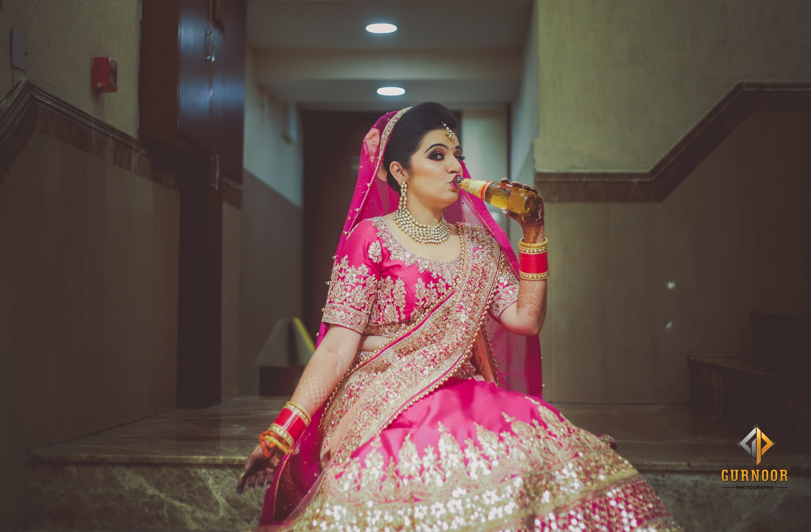 Bindass Bride Drinking Booze