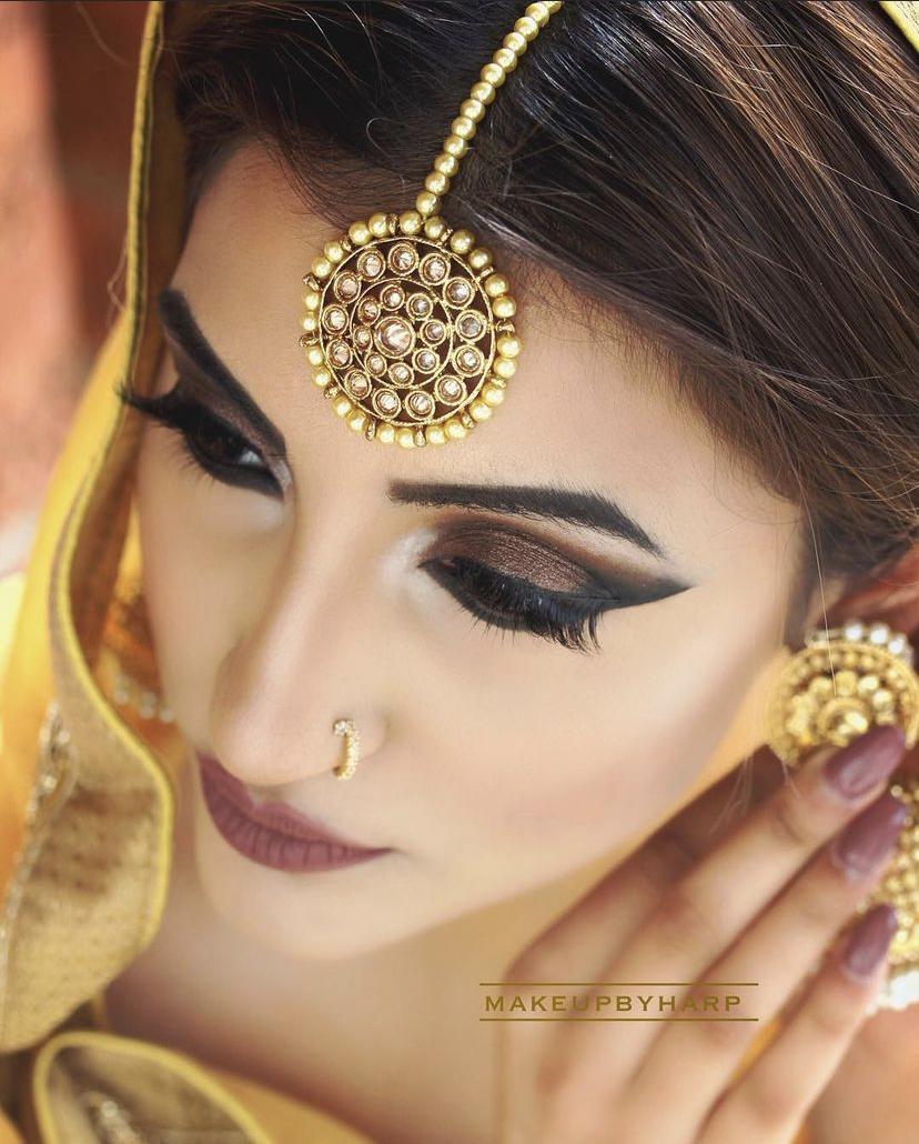 stunning brown smokey eye