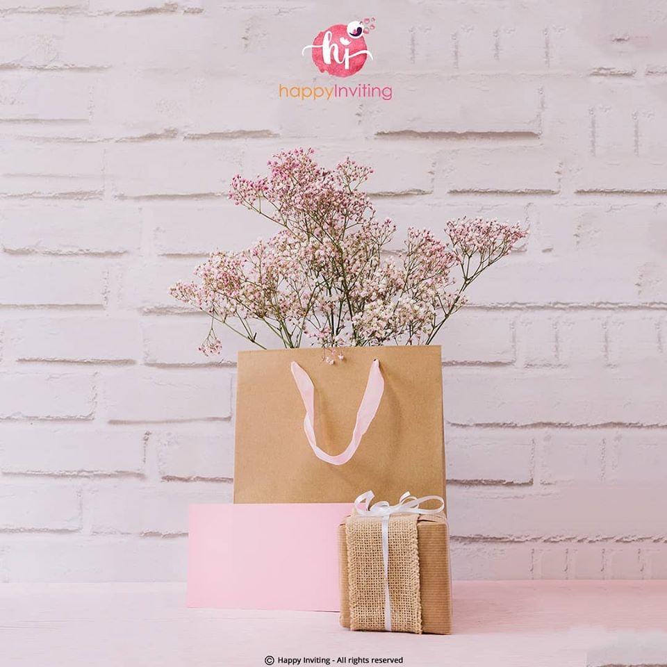 Beautiful Pink & Brown Gift Packaging