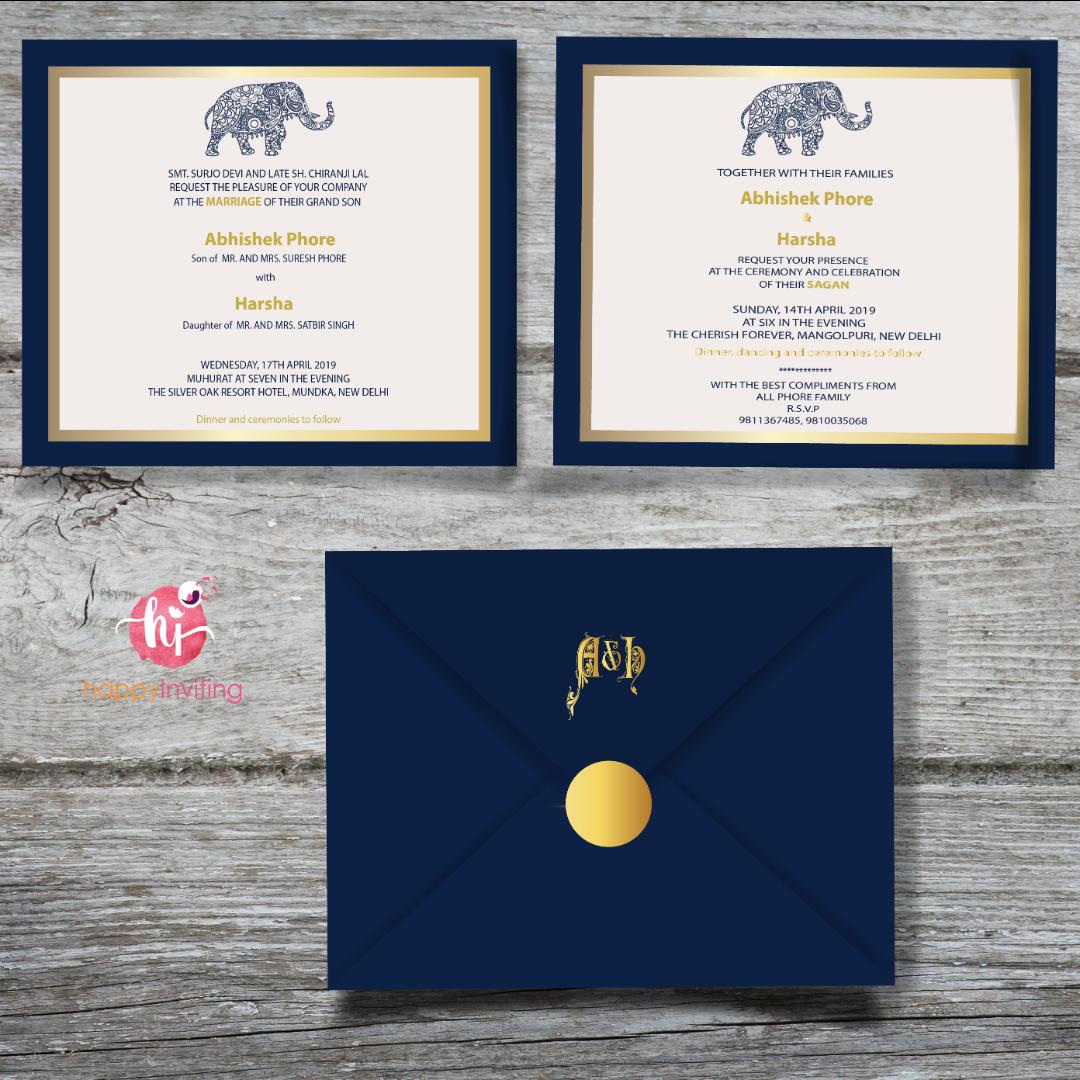 Best Blue Wedding Invitation Cards