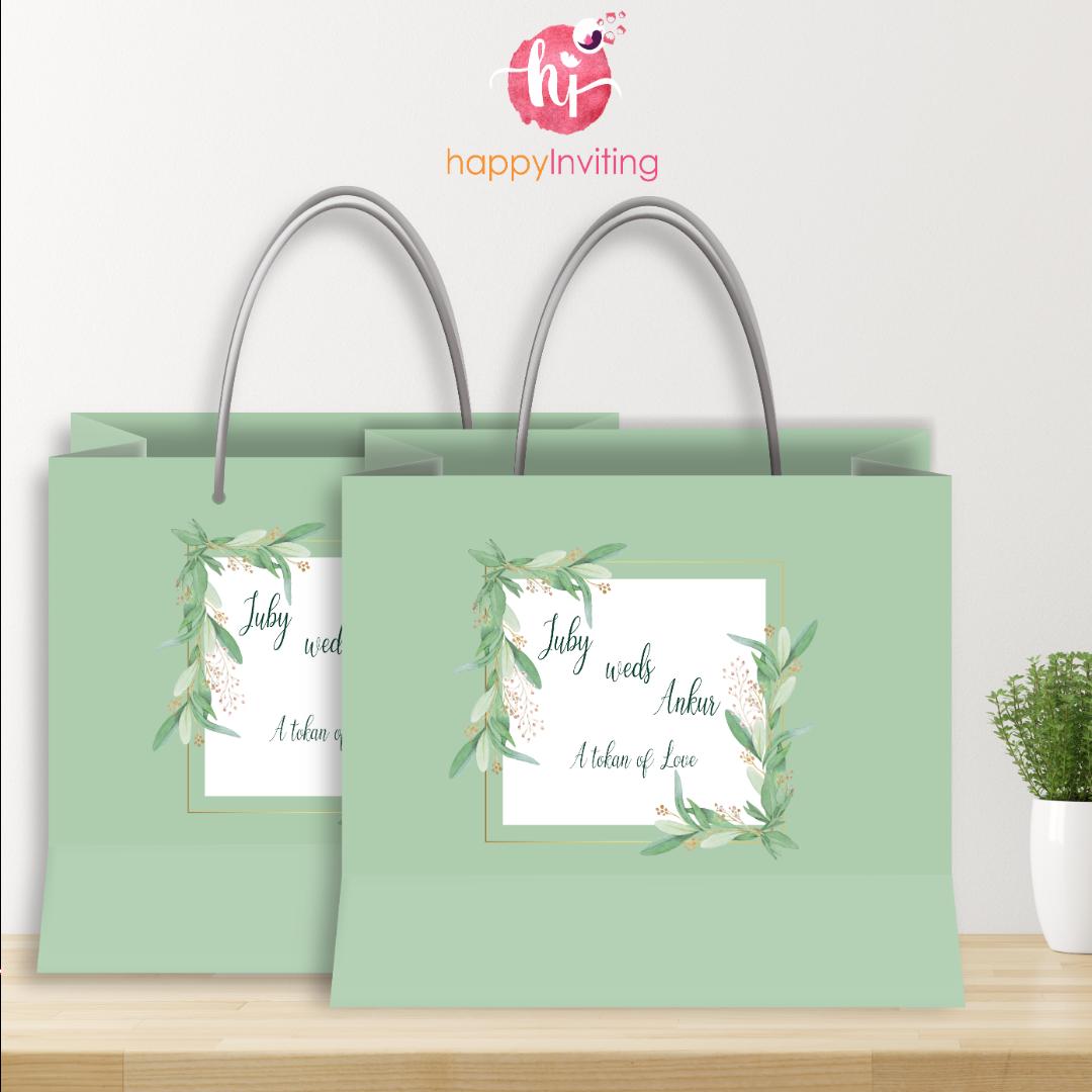 Innovative Carry Bag Style Wedding Invites