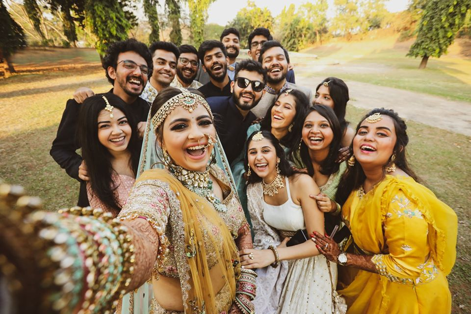 Bride Selfie with Friends Picture