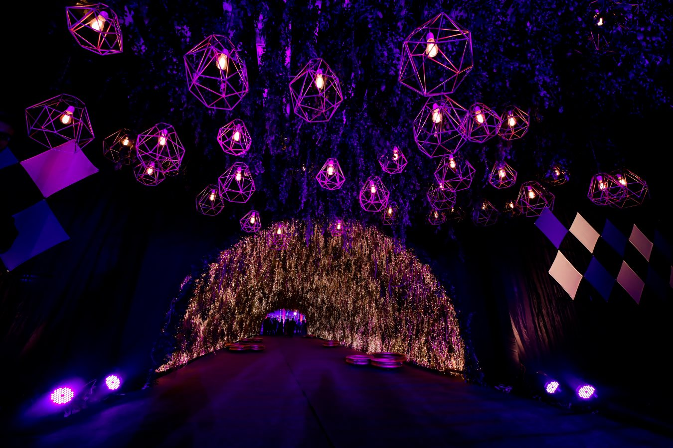 Grand Fairy Light Entrance Decor