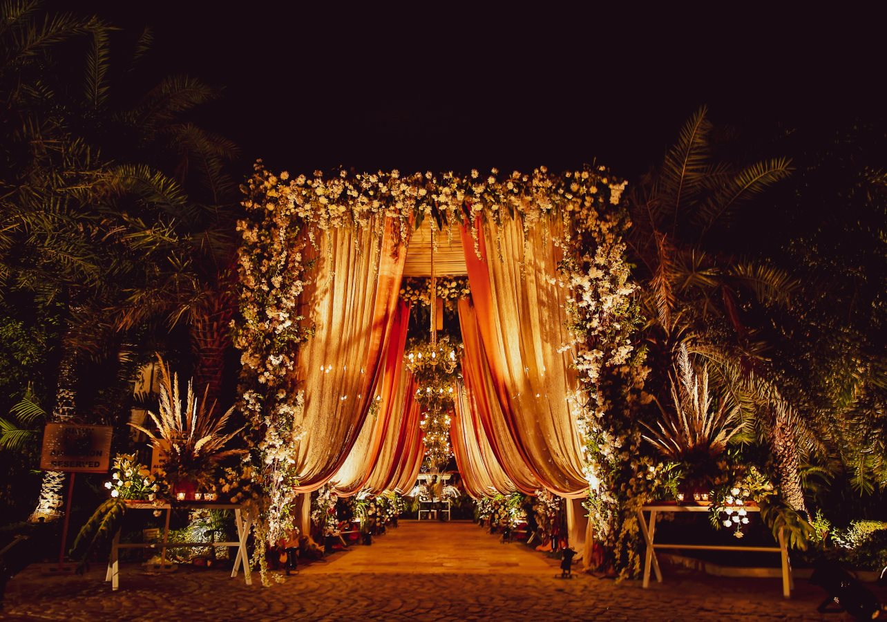Grand Floral Entrance Decor