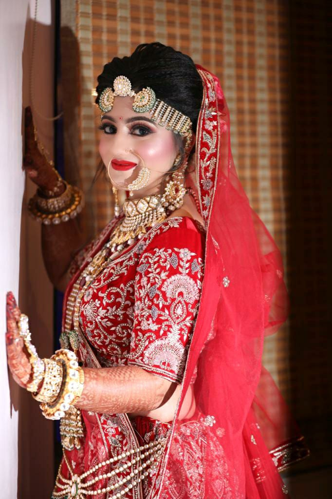 Gorgeous Indian Bride in Red Lehenga