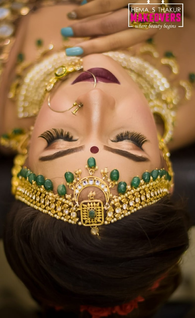 Bold Lip Looks on Indian brides