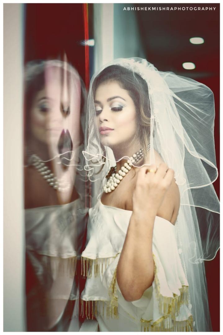Gorgeous Indian Christian Bridal Portrait