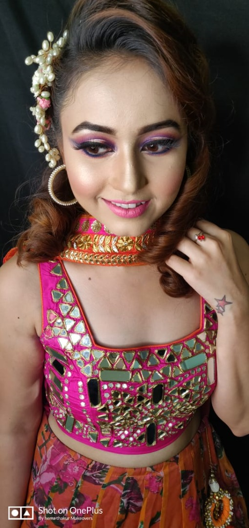 Glamorous makeup for Sangeet Ceremony