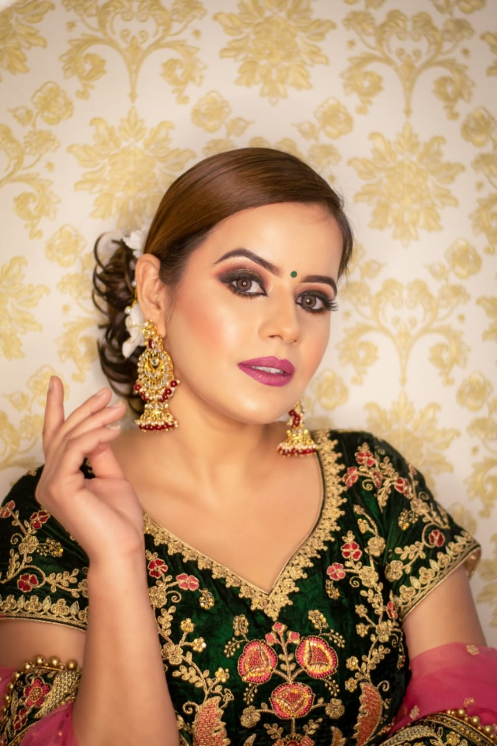 Party Makeup with traditional wear