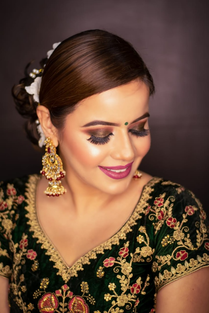 Stunning Party Makeup for Dusky Skin