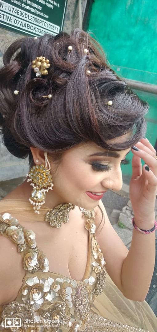 Bridal Hairstyle Ideas for Engagement Ceremony
