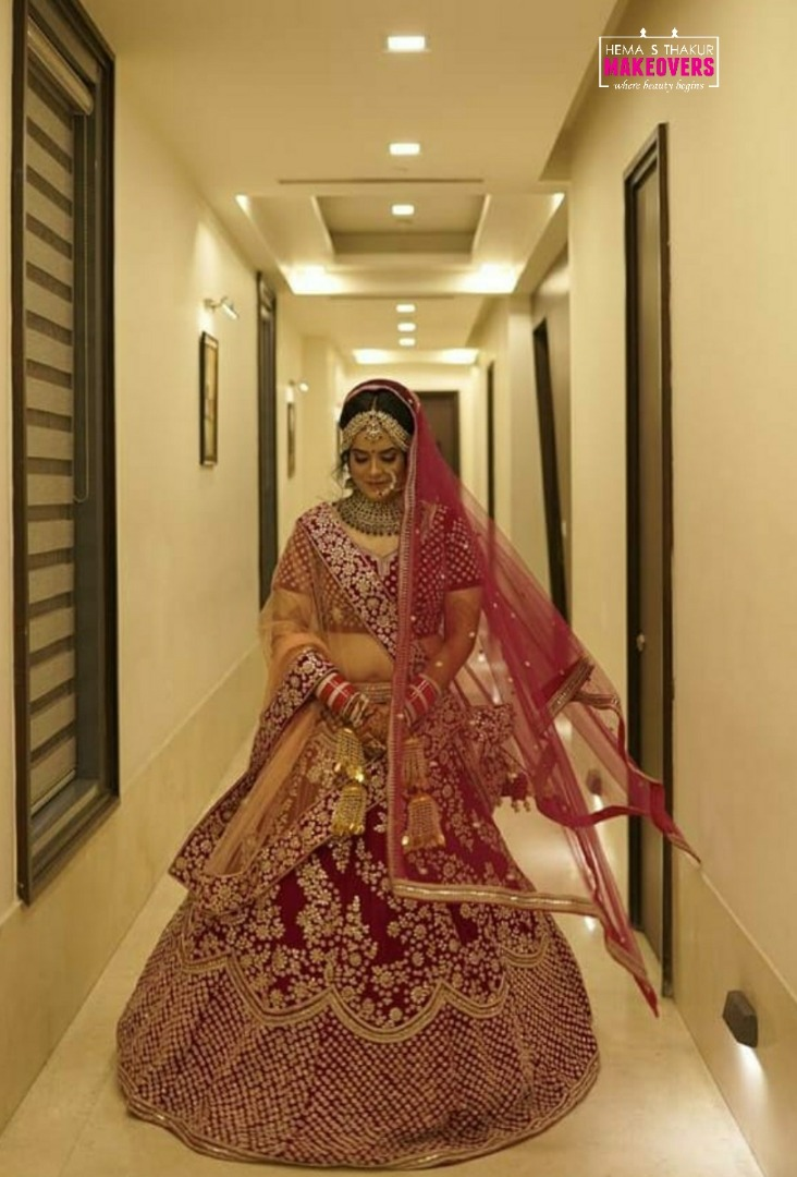 Stunning Indian Bride in Red Lehenga
