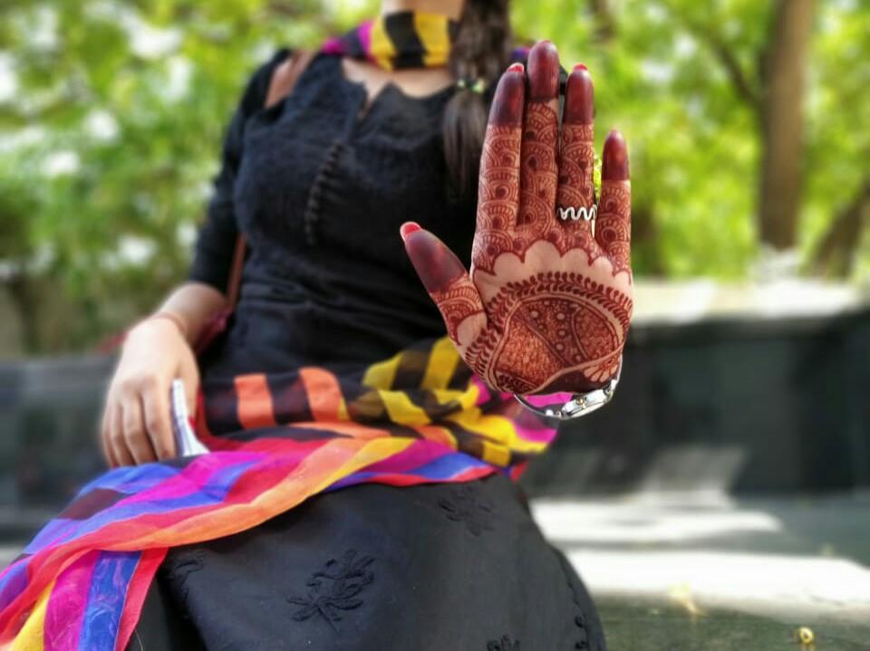 intricate henna design