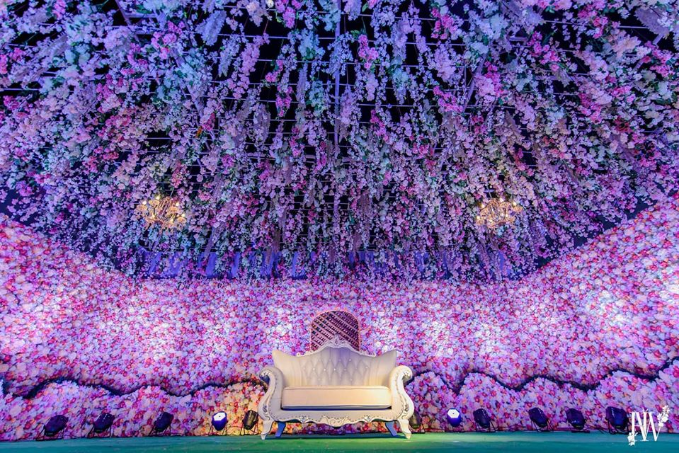 All Floral Wedding Stage Decor