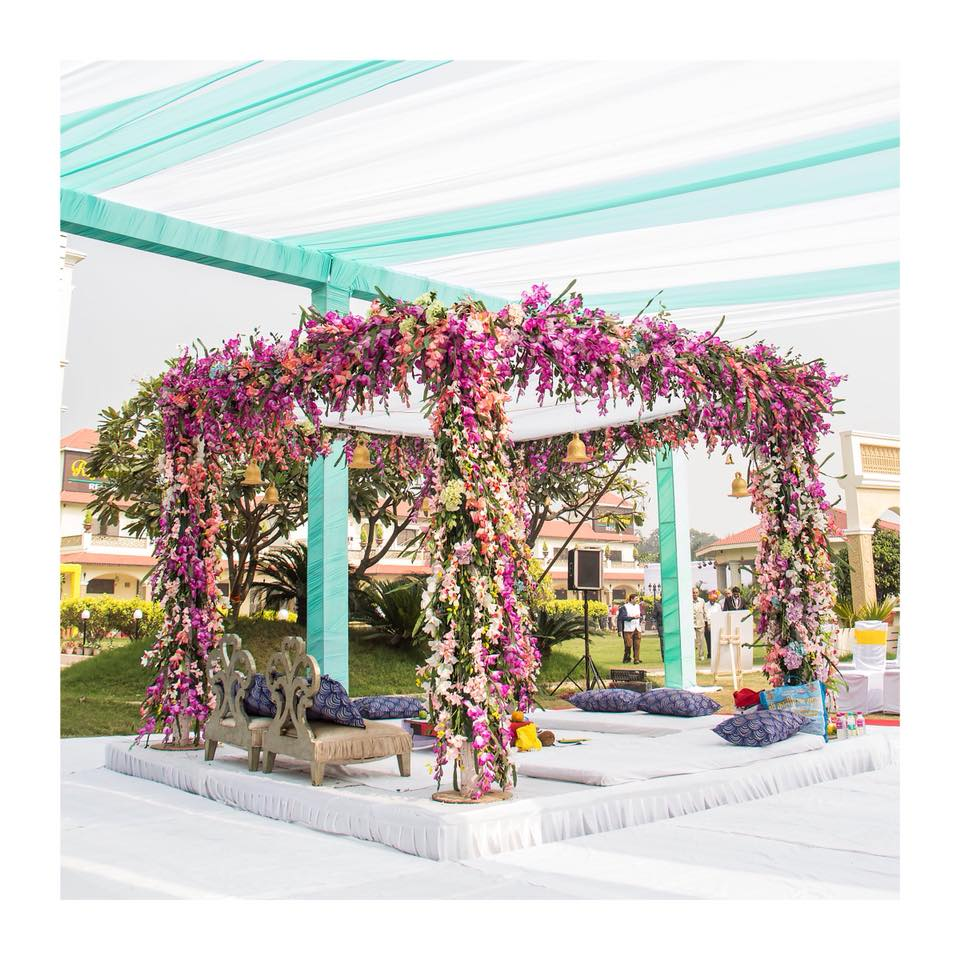 Floral Outdoor Mandap Decor