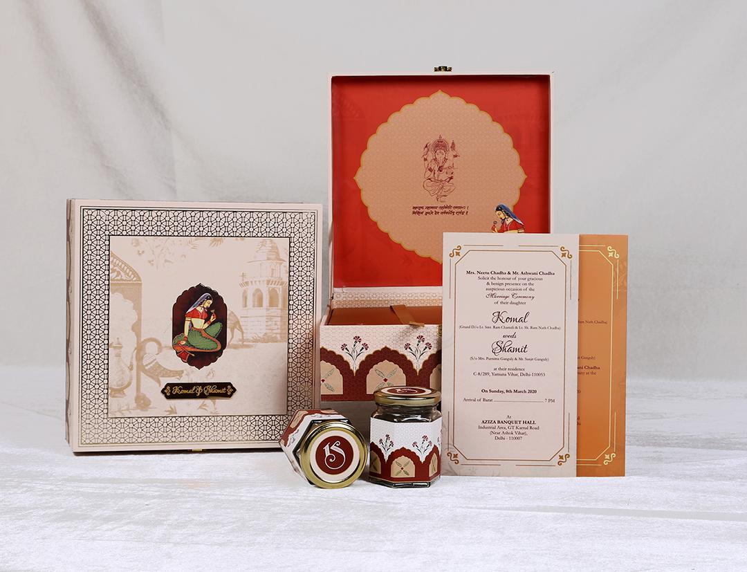 Classic Traditional Boxed Wedding Invitation