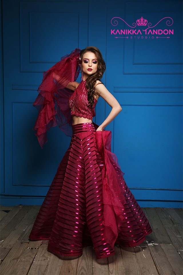 Light Weight Red Designer Lehenga for Cocktail Party