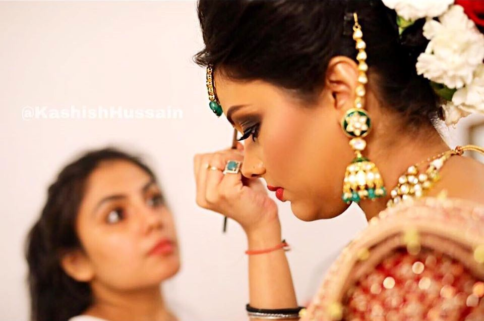 Kashish Hussain Dolling up the bride
