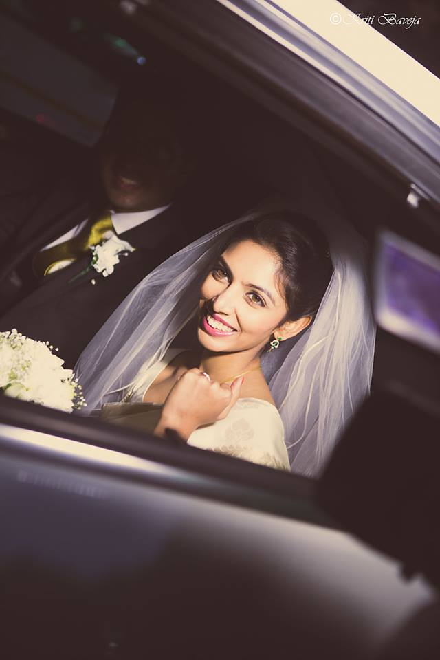 Christian Bride Smiling while Posing