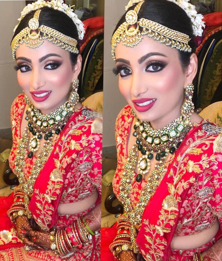 bride in stunning bridal makeup