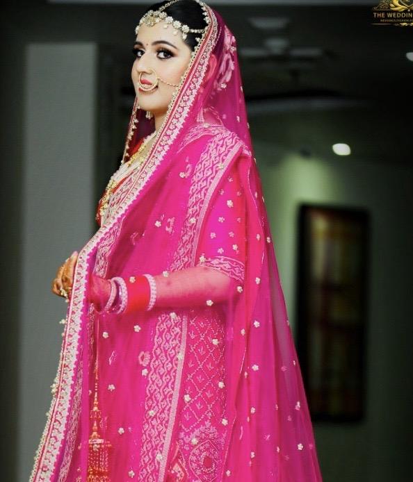 Beautiful Pink Bridal Makeup