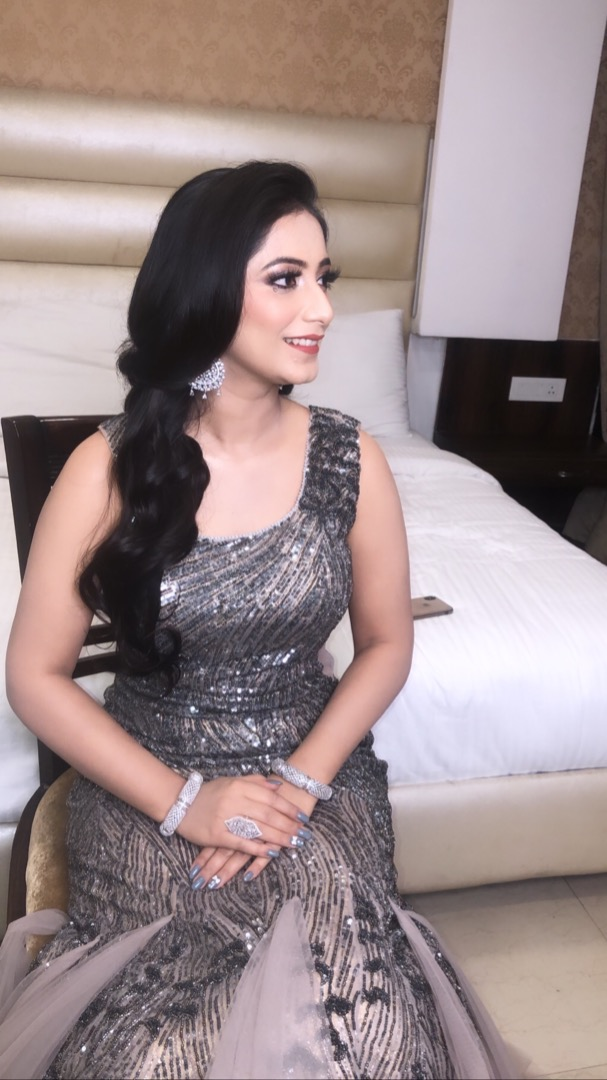 Silver Makeup for Sangeet Ceremony