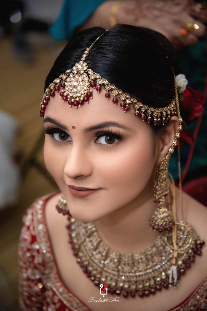 Natural Red Bridal Makeup & Hair