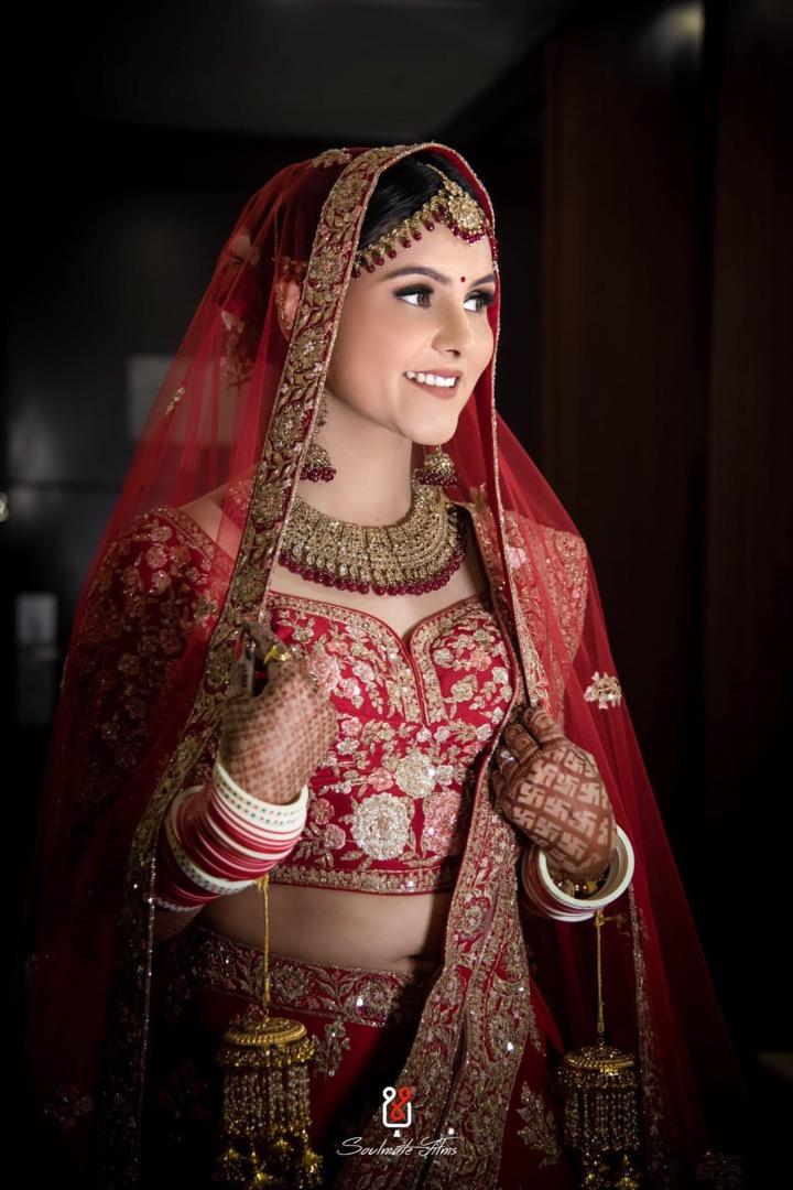 Beautiful Bride in Red