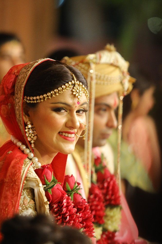 Beautiful Bride in Gold & Red