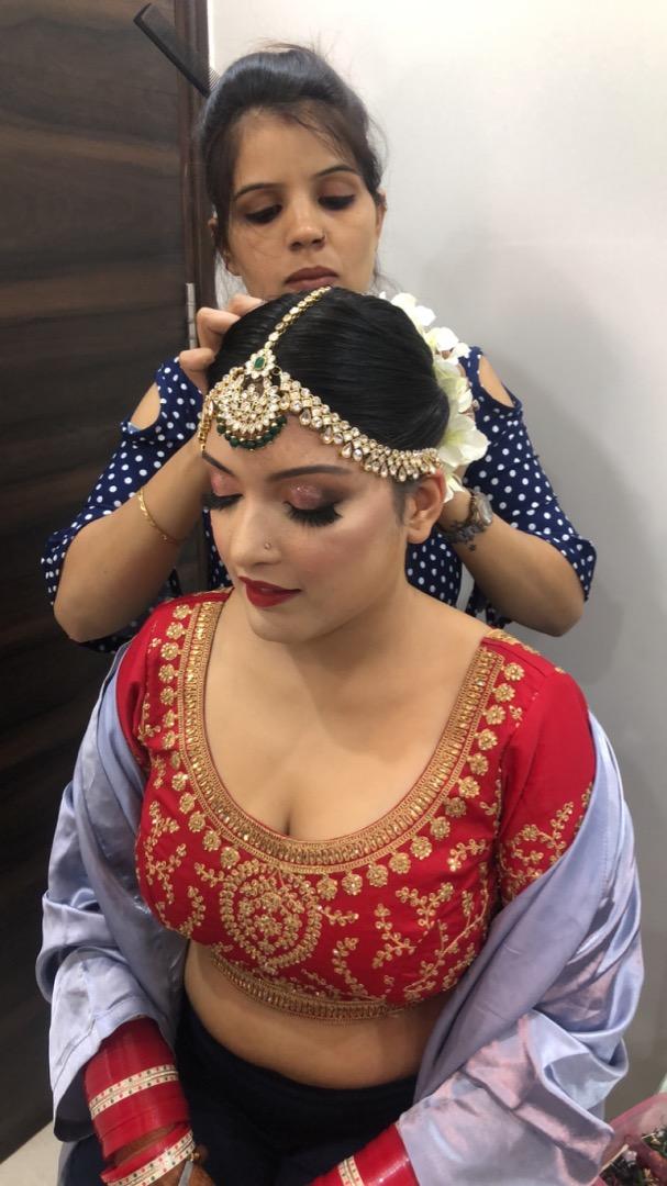 REd Bridal Makeup & Hair