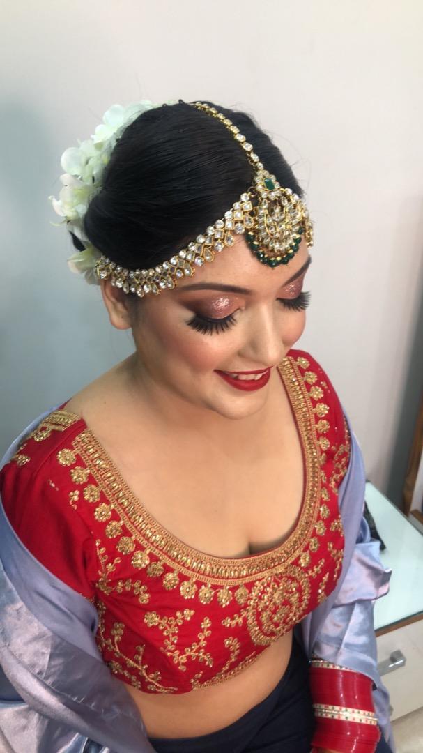 Red Bridal Makeup