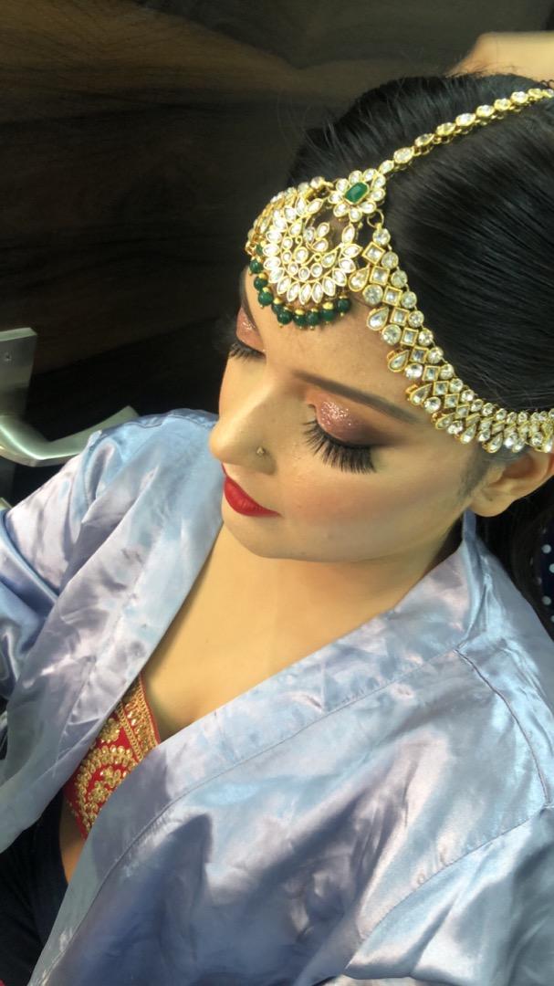 Glitter EYes BRidal Makeup