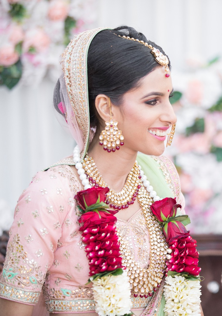 Beautiful bride in Pink