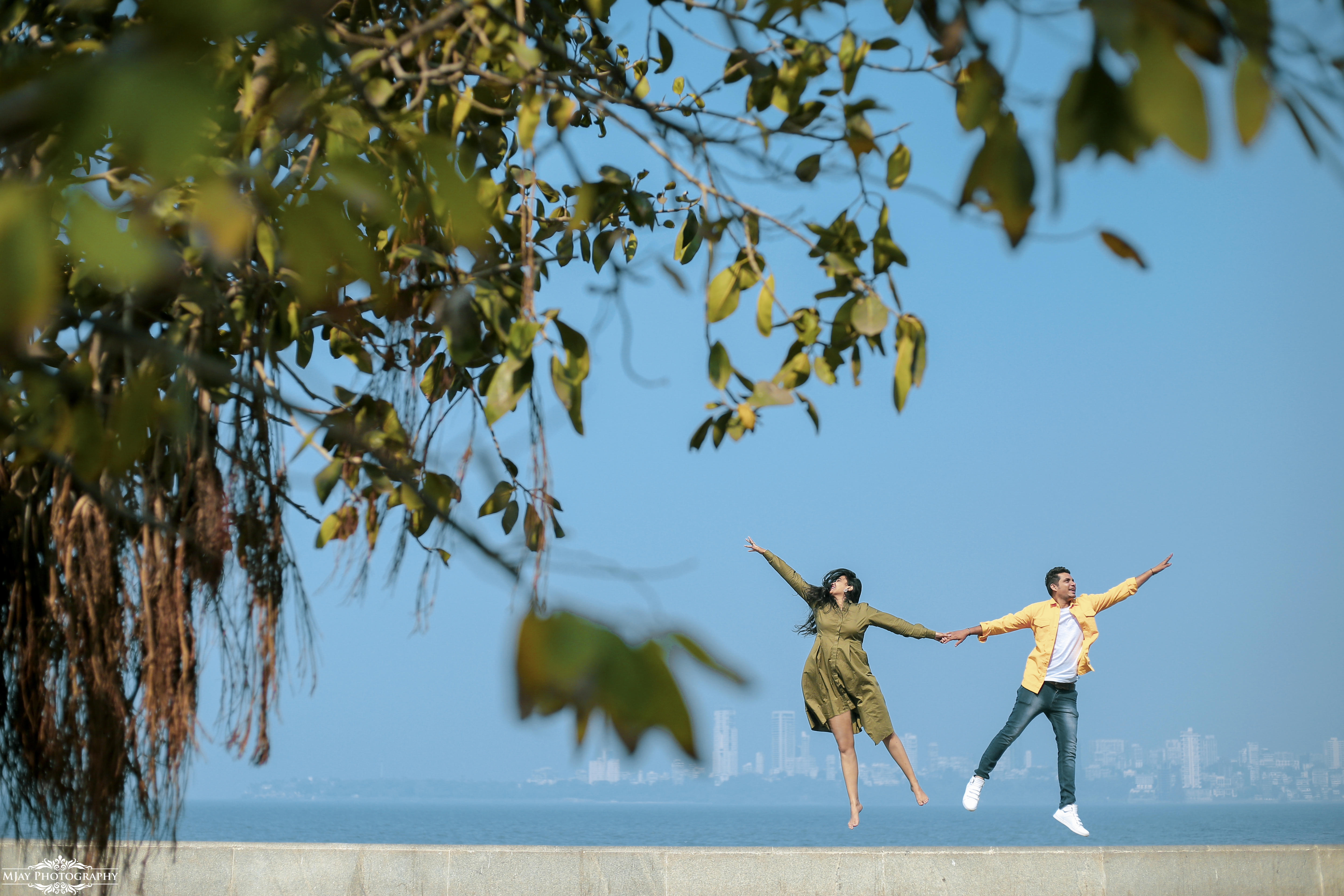 Couple Pre Wedding Photography Jumping