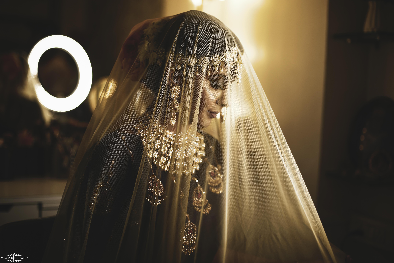 Beautiful Bridal Portrait Picture in Ghungat