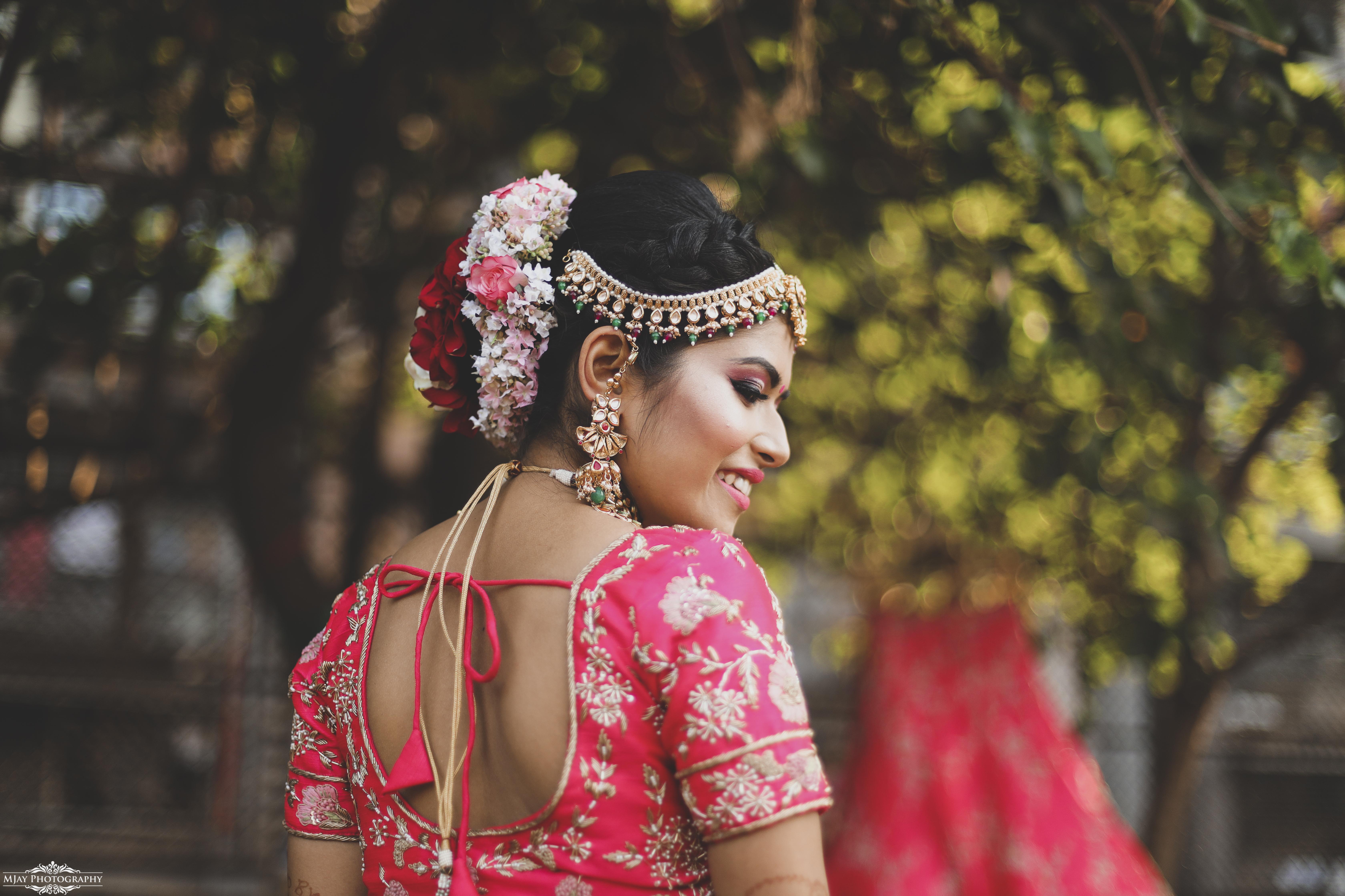 Indian Bride in Pink Bridal Lehenga