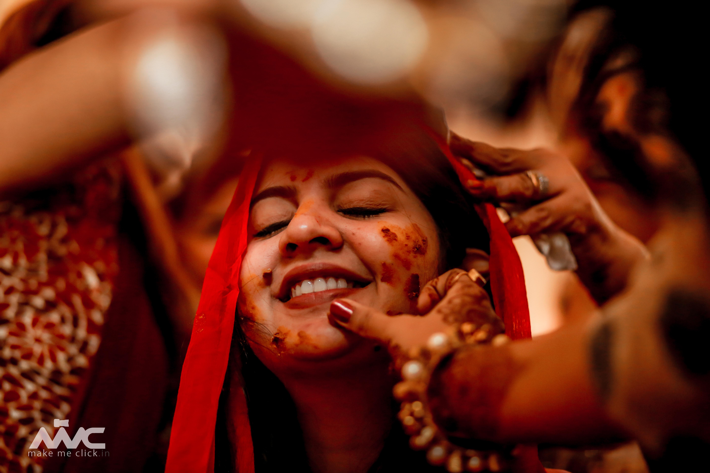 Candid Haldi Ceremony Shots