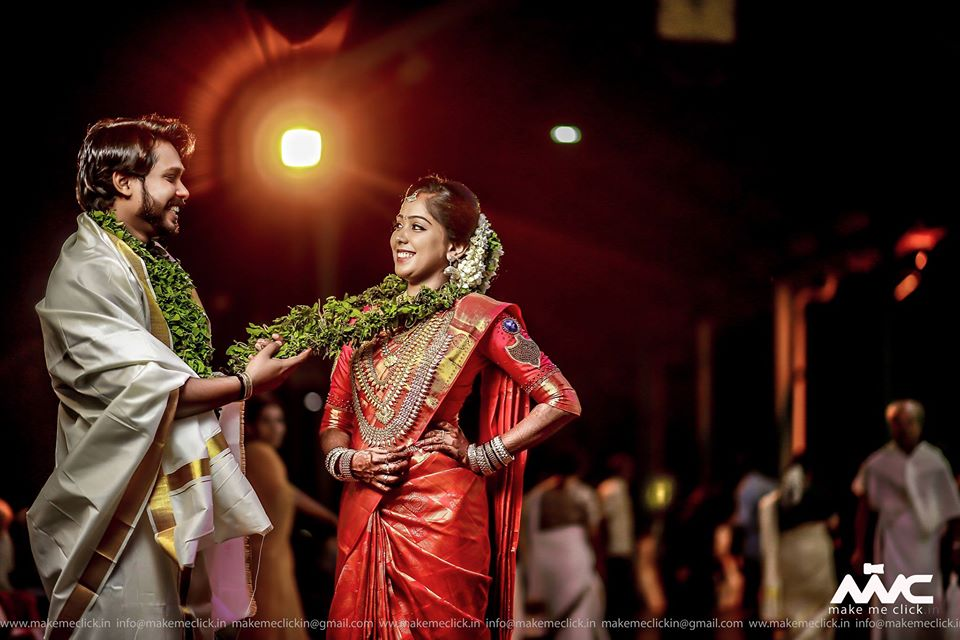 Cute South Indian Couple Post Wedding Picture