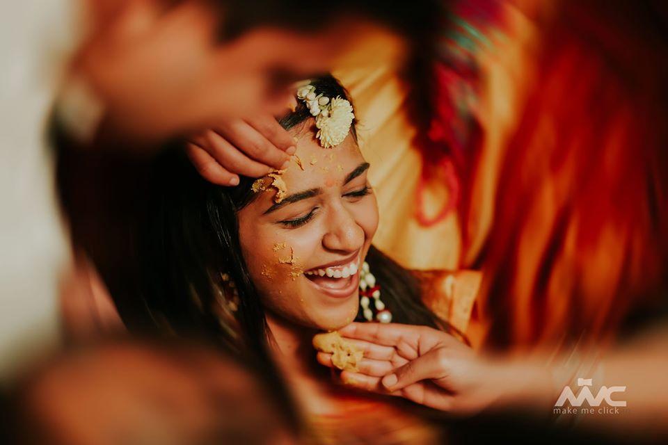 Indian Bride Haldi Ceremony Picture