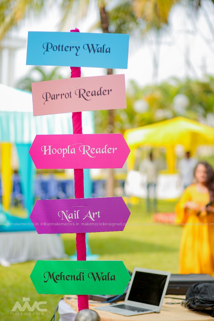 Colorful Party Signages