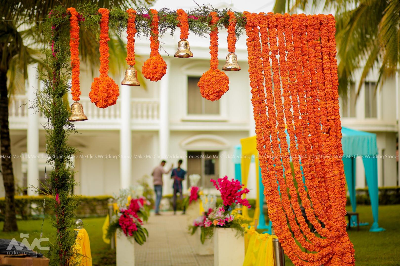 Marigold Entrance Decor