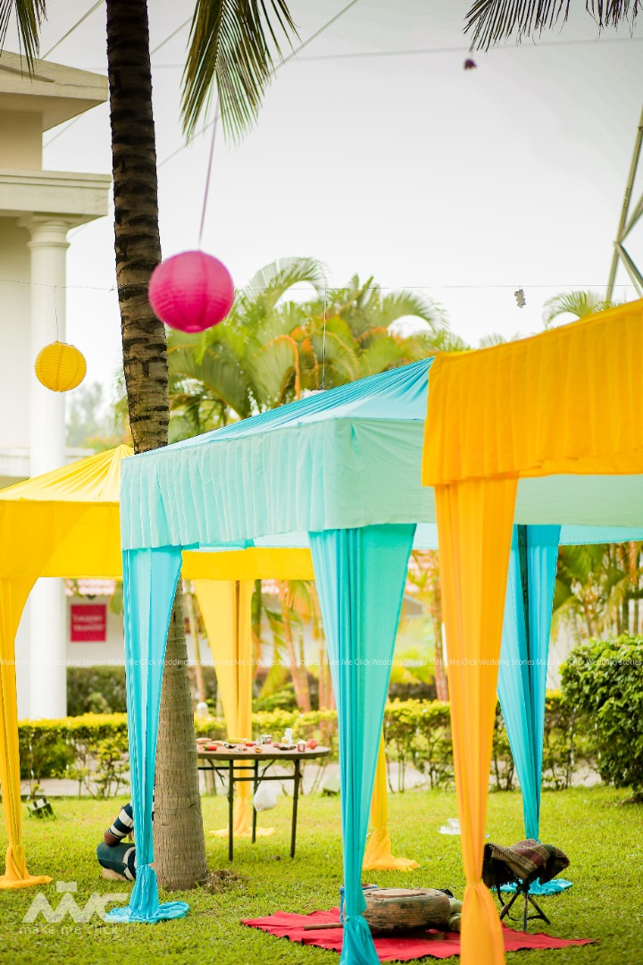Colorful Tent Seating Decor