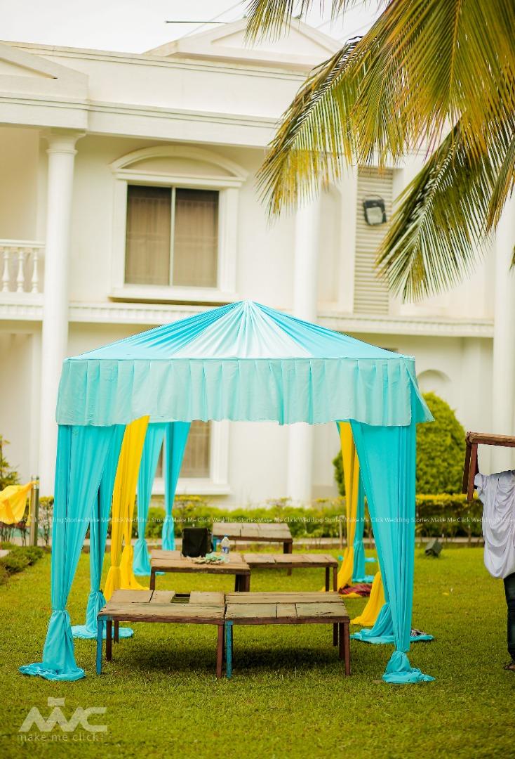 Tent Theme Mehendi Ceremony Seating