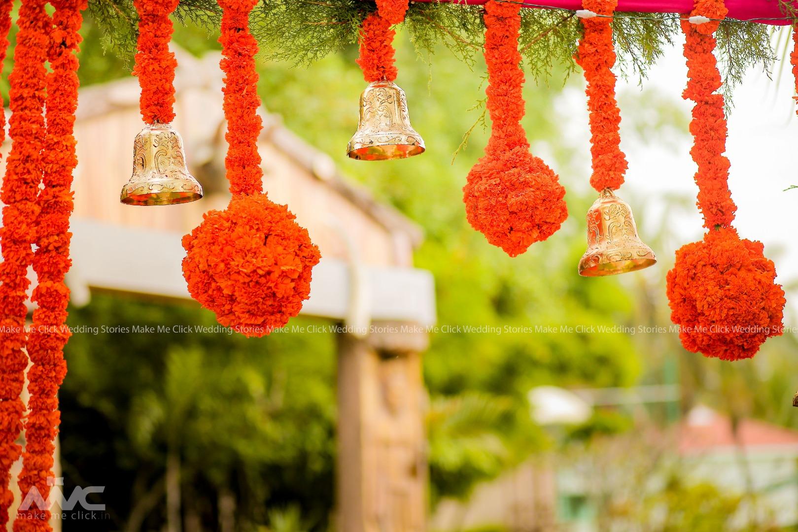 Marigold Balls and Bells Decor